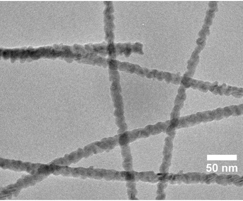 TEM Of Smooth CdSe-CdS Core-shell Nanowires.